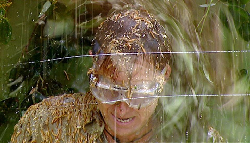 """********EMBARGOED - NOT FOR PUBLICATION UNTIL 21.25 GMT SATURDAY 18 NOVEMBER 2006******** Undated handout photograph showing entertainer Jason Donovan taking part in a Bushtucker Trial during tonight's episode of the ITV television programme, """"I'm A Celebrity...Get Me Out Of Here""""."""