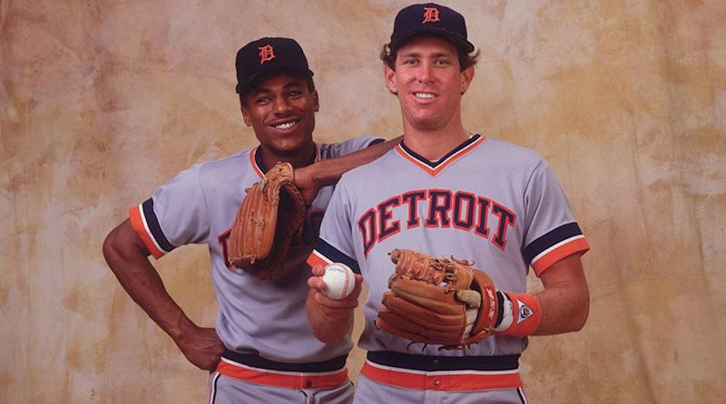 Alan Trammell (No. 3) and Lou Whitaker (No. 1), Detroit Tigers