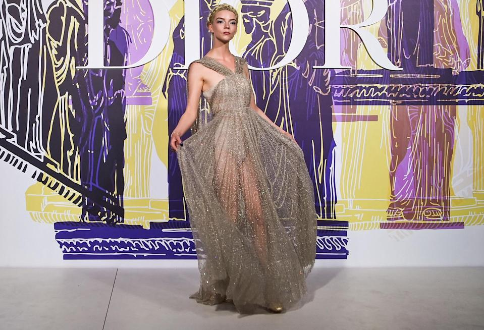 <p>Anya Taylor-Joy looks divine at the photocall before the 2022 Dior Croisiere show at Panathenaic Stadium in Athens on June 17.</p>
