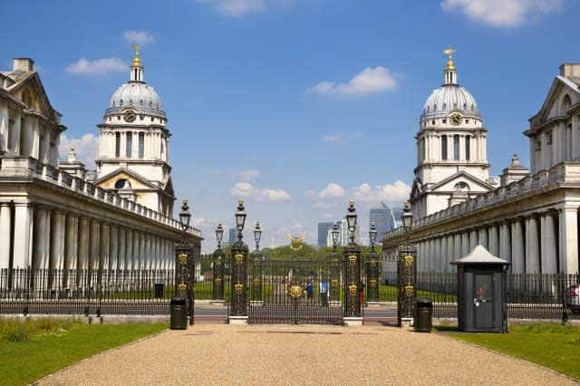 Greenwich Painted hall and Royal navy chapel. London