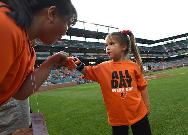 Hailey Dawson is on a quest to throw out a first pitch in every park. (Getty Images)