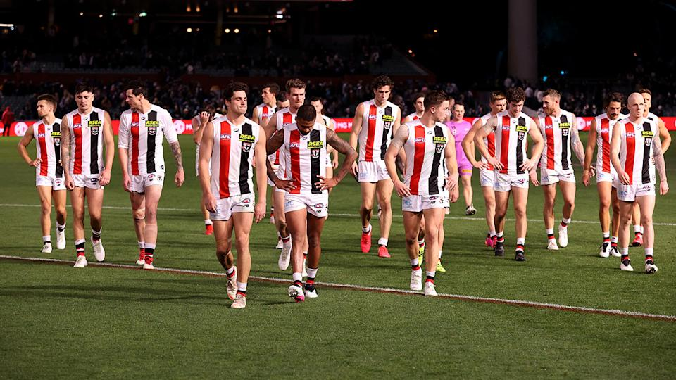 The Saints were thoroughly outclassed by Port Adelaide last weekend, their third loss by more than 60 points this season. (Photo by James Elsby/AFL Photos via Getty Images)