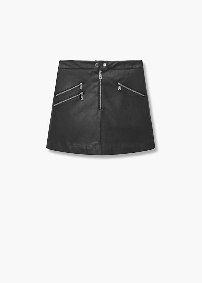 "<p><a rel=""nofollow"" href=""http://shop.mango.com/GB/p0/woman/clothing/skirts/short/biker-skirt?id=73053002_99&n=1&s=search""><em>Mango, was £35.99, now £29.99</em></a> </p>"