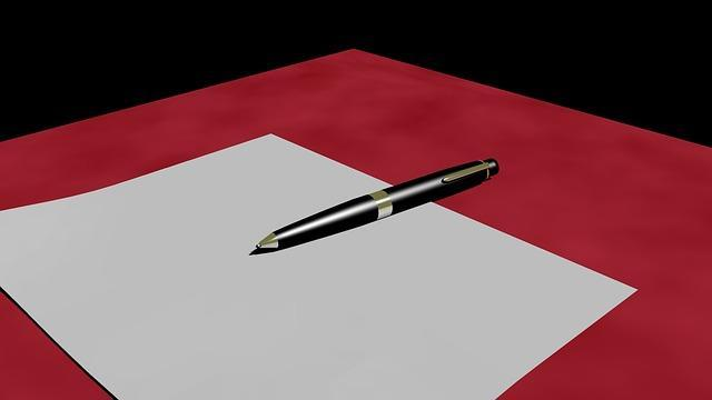 It all starts with a blank piece of paper. (Pixabay)