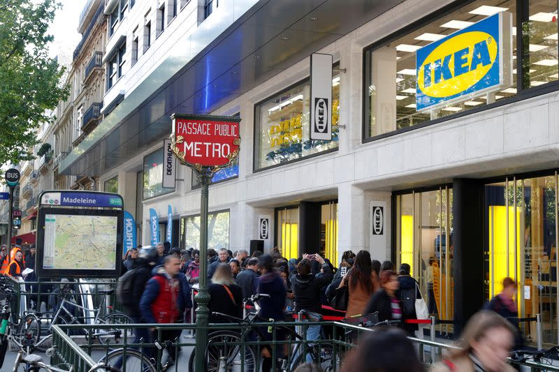 FILE PHOTO: General view of Swedish furniture giant IKEA store which will open in the heart of Paris