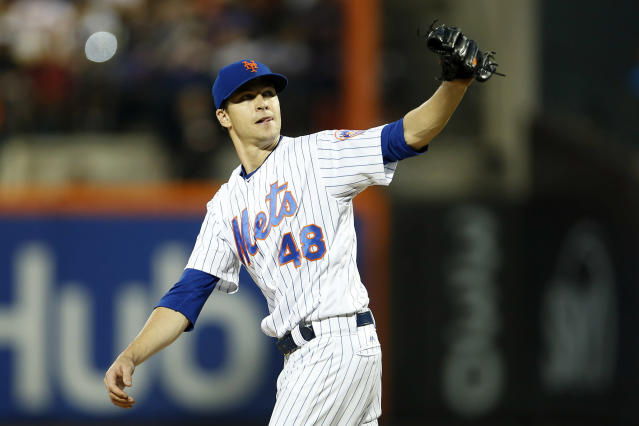 The Mets couldn't ask Jacob deGrom to be much better than he has been in 2018. The reverse is not true. (AP Photo)