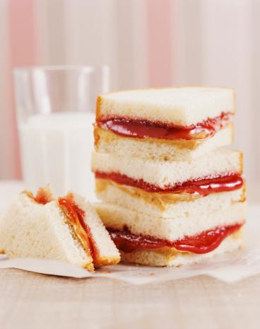 "<div class=""caption-credit""> Photo by: Thinkstock</div><div class=""caption-title""></div><b>The classic school lunch</b>: There was a time when a glass of whole milk and peanut butter and jelly sandwich was considered the school lunch of champions. Not in 2012. January kicked off a nationwide ban by the <a target=""_blank"" href=""http://yhoo.it/12n4amF"">USDA on full-fat milk</a> in schools, replacing the lunch tray fixture with skim and low-fat options. Then in April, a Virginia school district sparked a nationwide debate over <a target=""_blank"" href=""http://yhoo.it/UzGdTq"">peanuts in schools</a>, after parents reacted to school wide ban on the product in its creamy form due to the growing number of peanut allergies."