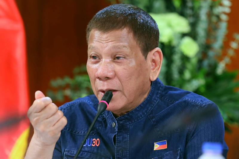 Duterte played down the virus early on in the pandemic, before gaining praise for enforcing a strict lockdown: AP