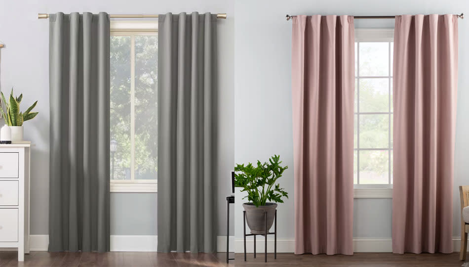 Block heat while you seal in coolness, with these sale-priced thermal curtains. (Photo: Wayfair)