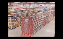 """<p>After the contestant's time is finalized in the trivia round they are off to fill their carts with the <a href=""""https://www.nytimes.com/2020/07/17/arts/television/supermarket-sweep-netflix-amazon.html"""" rel=""""nofollow noopener"""" target=""""_blank"""" data-ylk=""""slk:most expensive items in the store"""" class=""""link rapid-noclick-resp"""">most expensive items in the store</a> (this is when the television magic happens and you find mother-of-three Judy cramming five oversized turkeys into her already filled cart).</p>"""