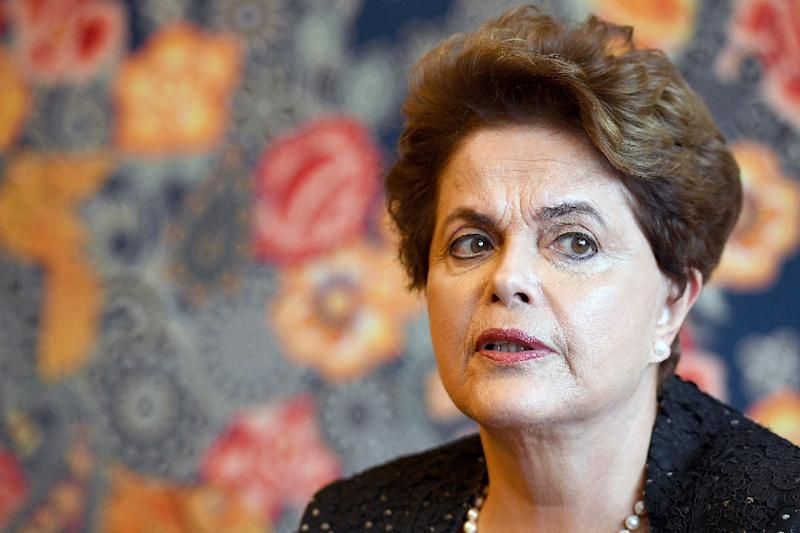 Former Brazilian President Dilma Rousseff speaks with AFP during an interview in Brazil on February 17, 2017 about the possibility of running for a seat in Congress in the next elections