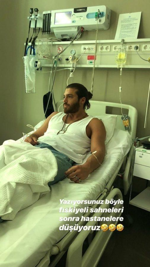 cam yaman in ospedale