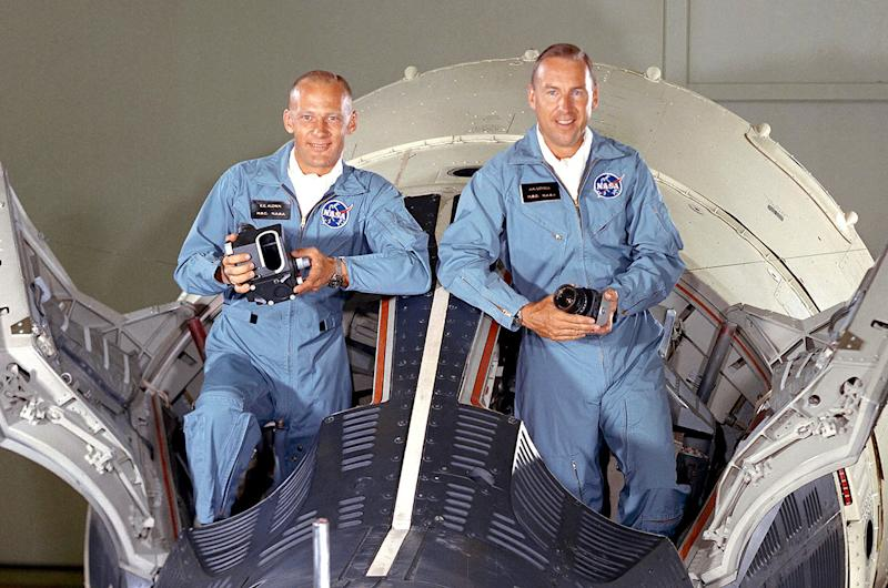 Gemini 12 Crewmates Buzz Aldrin And Jim Lovell To Mark Missions 50th At Gala