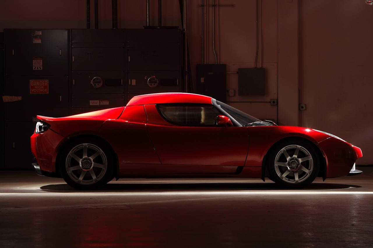 <p>In 2005, Tesla signed a deal with Lotus to use its body and chassis for the blueprint of its first car, the Roadster. The Roadster was to launch in 2008, creating an immediate stir.Accelerating from 0 to 60 mph in 3.7 seconds and achieving a range of 245 miles per charge of its lithium ion battery, the Roadster set a new standard for electric mobility. (John B. Carnett/Bonnier Corporation via Getty Images) </p>