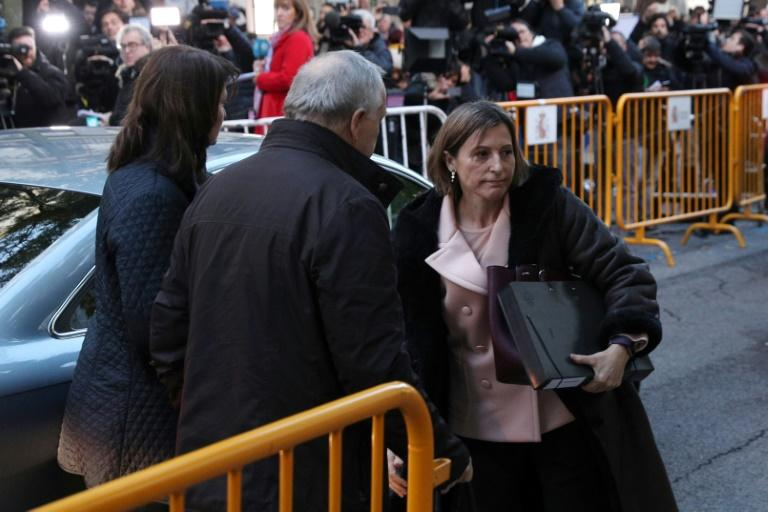 Catalan parliament speaker Carme Forcadell released after a night in prison