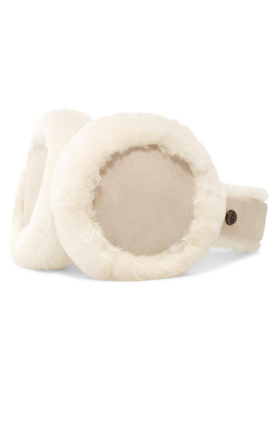 <p>Keep your ears warm while jamming out and looking cute with the <span>UGG Collection Genuine Shearling Bluetooth Earmuffs</span> ($115).</p>