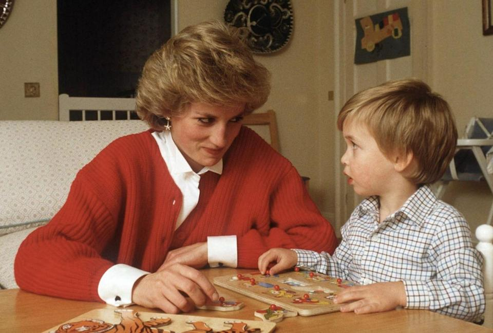 """<p>When she married Prince Charles, Diana gave up working as a nursery school teacher in favor of her royal obligations. But while she maintained her official duties, Diana worked to put <a href=""""http://www.goodhousekeeping.com/life/entertainment/g2565/vintage-photos-prince-william-prince-harry/"""" rel=""""nofollow noopener"""" target=""""_blank"""" data-ylk=""""slk:parenting"""" class=""""link rapid-noclick-resp"""">parenting</a> before her other commitments. """"Inevitably, she left her children with nannies — just as she herself and so many other well-to-do British children have been left — but she tried to arrange her schedule to match the boys',"""" Katrine Ames <a href=""""http://www.newsweek.com/princess-diana-diana-william-harry-prince-william-prince-harry-royal-family-383384"""" rel=""""nofollow noopener"""" target=""""_blank"""" data-ylk=""""slk:wrote"""" class=""""link rapid-noclick-resp"""">wrote</a> in <em>Newsweek</em> in 1997. """"In her official calendar, the princess had all the everyday details of her son's utterly uneveryday lives marked in green ink.""""</p>"""