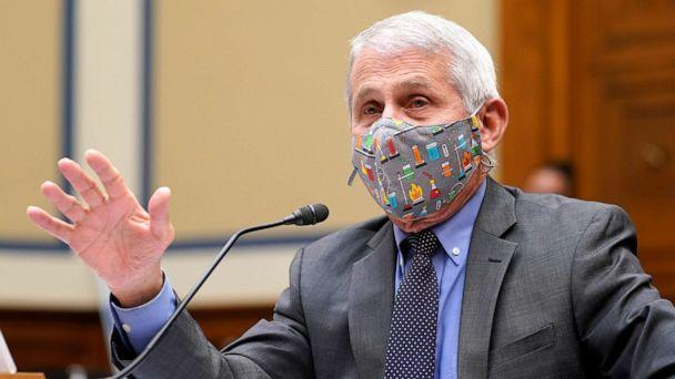 PHOTO: Dr. Anthony Fauci responds to a question during a House Select Subcommittee hearing on April 15, 2021 on Capitol Hill in Washington, D.C. The committee is hearing testimony on the role of the NIAID in research Addressing COVID-19. (Pool/Getty Images)