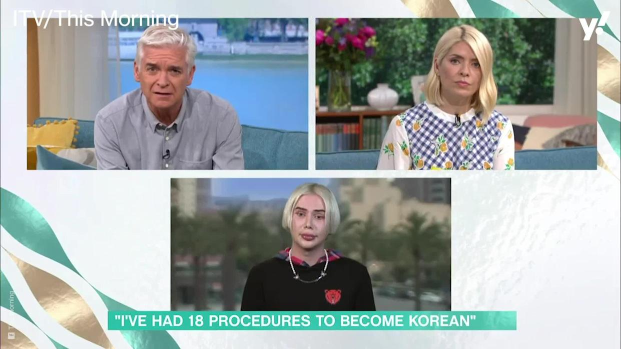 <p>British singer and influencer Oli London appeared on This Morning to talk to Philip Schofield and Holly Willoughby about his decision to undergo 'racial-transition surgery' because they 'identify as Korean'.</p>
