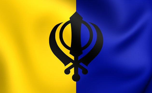 Flag of an independent Sikh homeland called Khalistan for which some British Sikhs have been campaigning since 1984