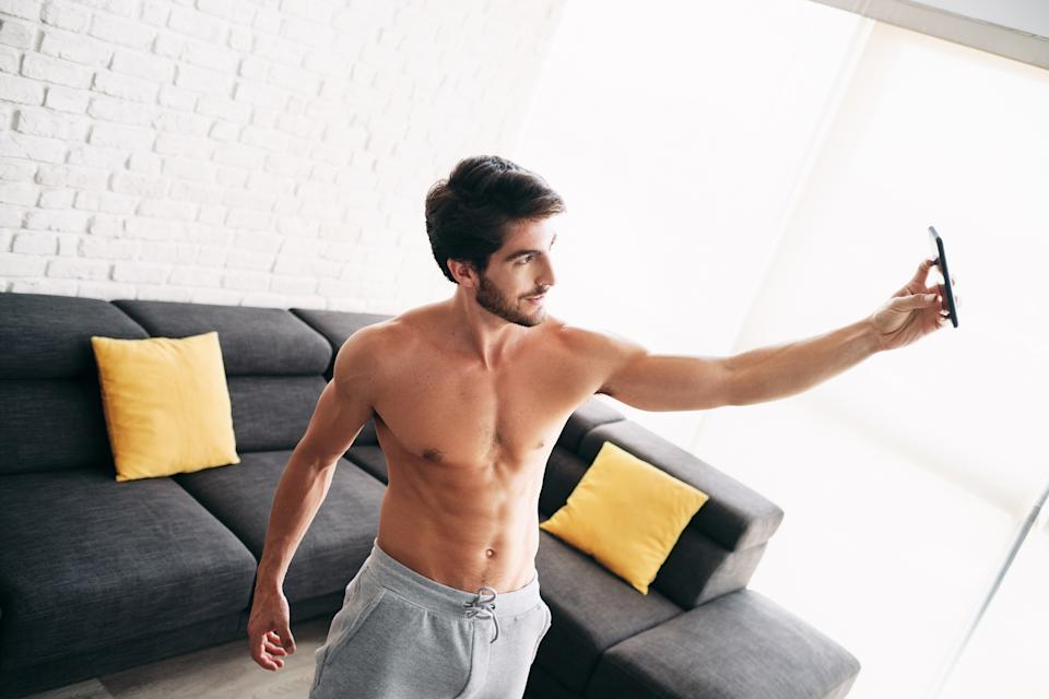 90% of men think flashing their flesh on dating apps is more likely to boost their chances. (Getty Images)
