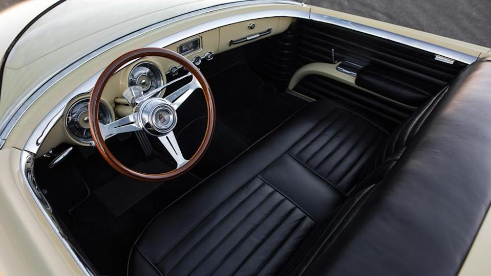 The minimalist two-seat interior. - Credit: Photo by Patrick Ernzen, courtesy of RM Sotheby's.