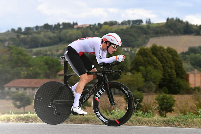 IMOLA ITALY SEPTEMBER 24 Marlen Reusser of Switzerland during the 93rd UCI Road World Championships 2020 Women Elite Individual Time Trial a 317km stage from Imola to Imola ITT ImolaEr2020 Imola2020 on September 24 2020 in Imola Italy Photo by Tim de WaeleGetty Images