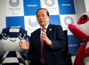 Toshiro Muto, Tokyo 2020 Organizing Committee CEO, speaks during an interview with Reuters in Tokyo
