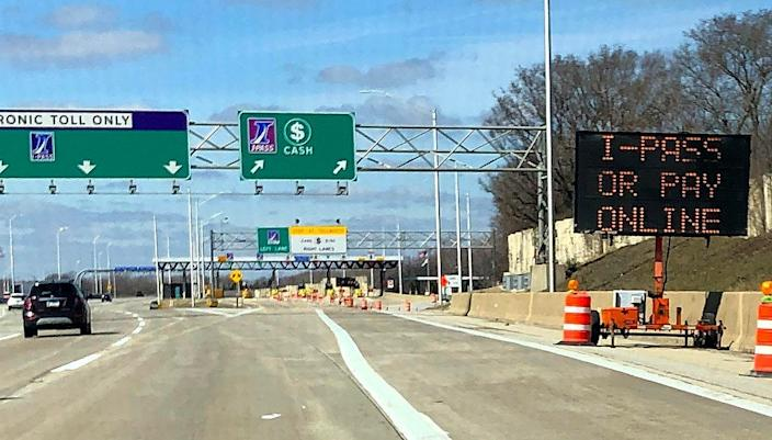 Drivers on the Illinois Toll System will be permanently unable to pay with cash or coins, in an effort to stop the spread of the coronavirus.