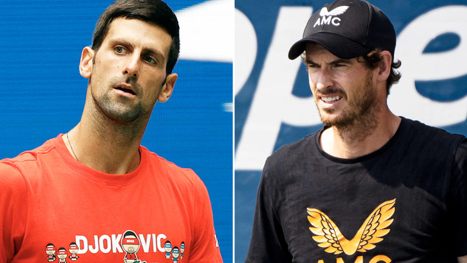 Novak Djokovic and Andy Murray, pictured here in action ahead of the US Open.
