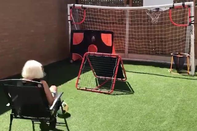Supergran goes viral after jaw-dropping footballing trick shots