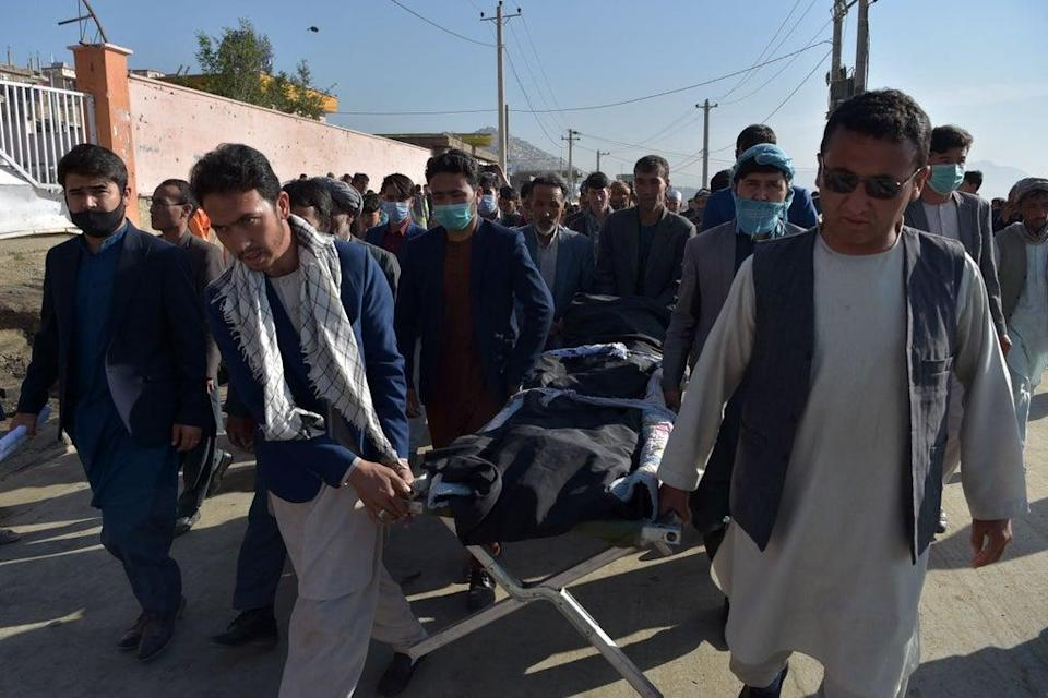 Triple blasts outside a school in Kabul killed more than 80 children in May in a Shia Hazara neighbourhood (AFP via Getty Images)