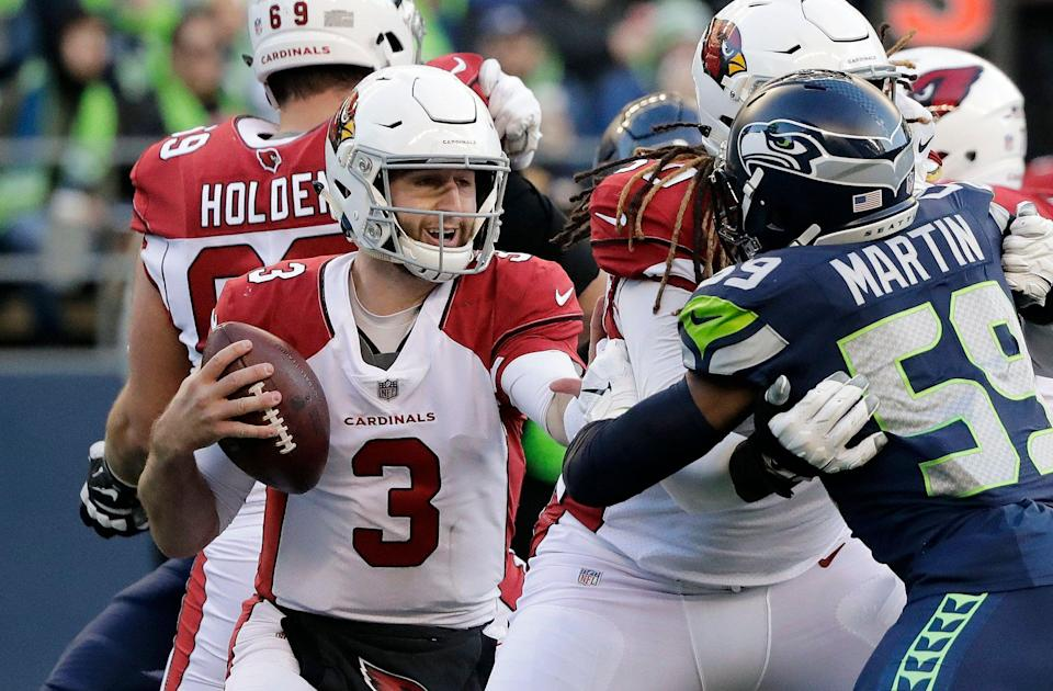 Arizona Cardinals quarterback Josh Rosen will reportedly be at the team's offseason program, which starts Monday. (AP)
