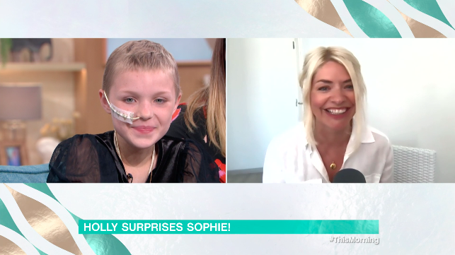Holly Willoughby surprised a young fan. (ITV)