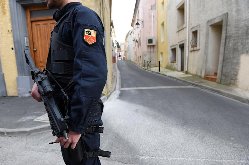 During raids in Marseille and Clermont-Ferrand, French police recovered a Kalashnikov rifle and a shotgun, one grenade, a knife, and two bulletproof vests