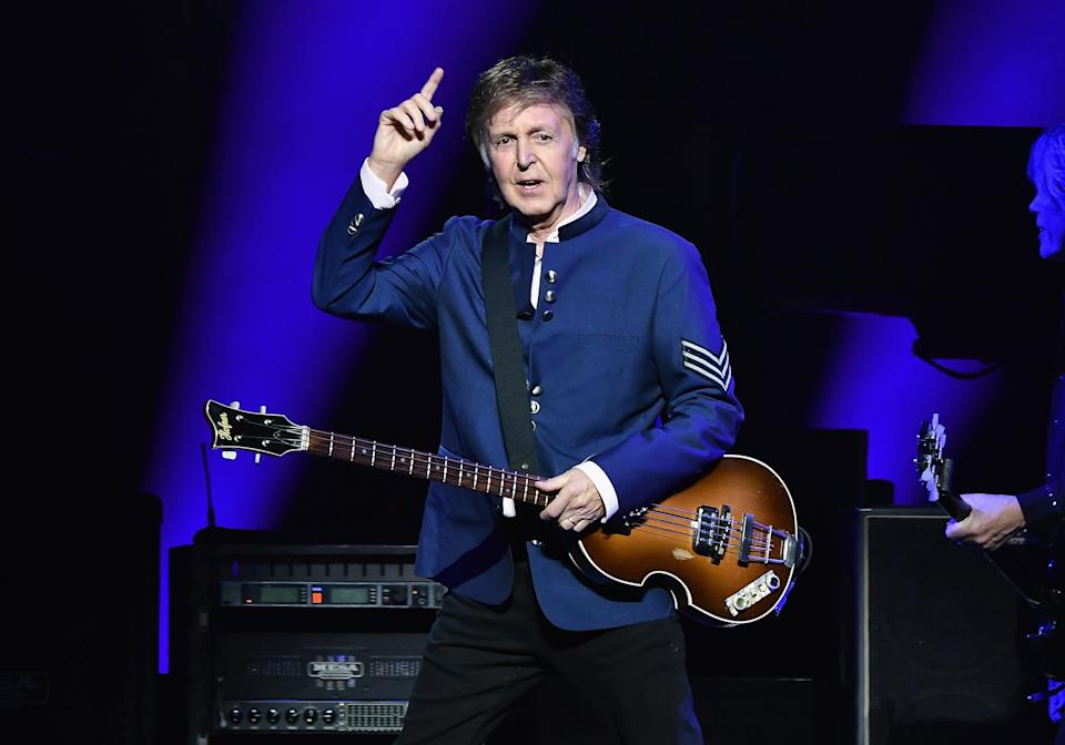 Paul McCartney in concert in Miami in July 2017. (Gustavo Caballero/Getty Images)