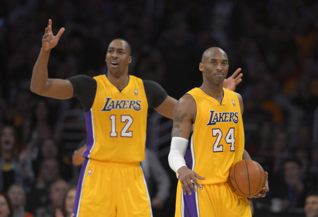 Dwight Howard opened up about how egos played a role in his first failed stint with the Lakers. (AP Photo/Mark J. Terrill)