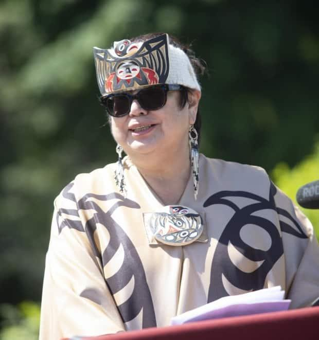 Kekinusuqs, Judith Sayers, is Vancouver Island University's new chancellor, president of the Nuu-chah-nulth Tribal Council, and former chief of Hupacasath First Nation. (Vancouver Island University - image credit)