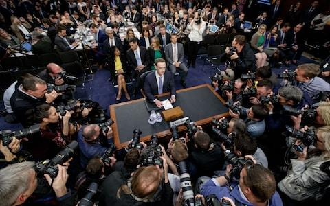 Mark Zuckerberg faces questions from Senators - Credit: Xinhua / Barcroft Images/Xinhua / Barcroft Images