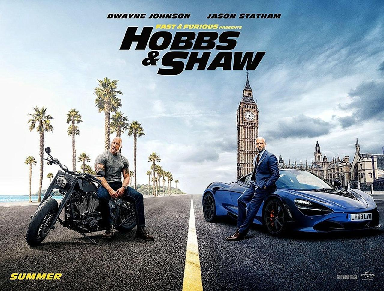 Fast and Furious Presents: Hobbs & Shaw' continues to top