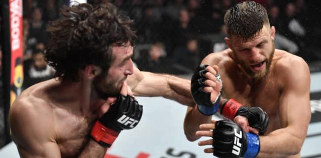 Zabit Magomedsharipov cracks Calvin Kattar at UFC on ESPN+ 21