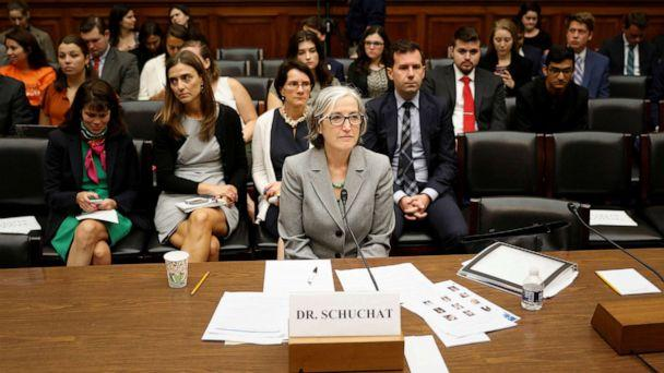 PHOTO: Dr. Anne Schuchat, principal deputy secretary of the Centers for Disease Control and Prevention, testifies before a House Oversight and Reform's Economic and Consumer Policy Subcommittee hearing in Washington, September 24, 2019. (Tom Brenner/Reuters)