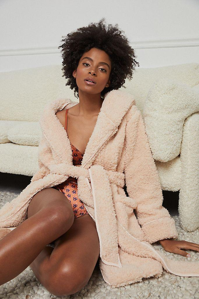 Taleen Sherpa Robe. Image via Anthropologie