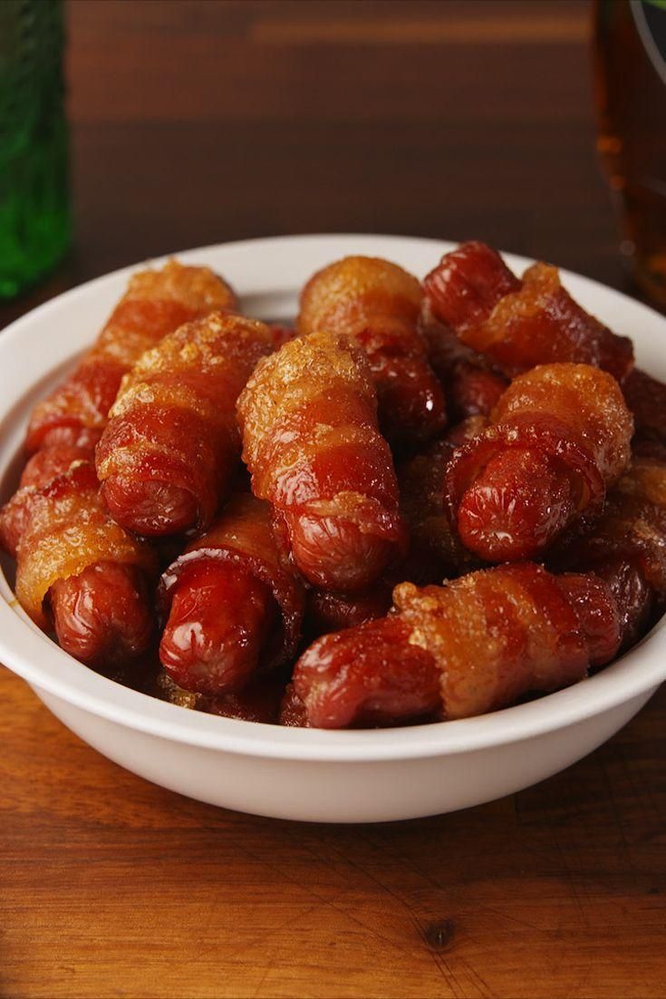 """<p>A must make for all parties.</p><p>Get the recipe from <a href=""""https://www.delish.com/cooking/recipe-ideas/recipes/a56825/maple-bacon-smokies-recipe/"""" rel=""""nofollow noopener"""" target=""""_blank"""" data-ylk=""""slk:Delish"""" class=""""link rapid-noclick-resp"""">Delish</a>. </p>"""