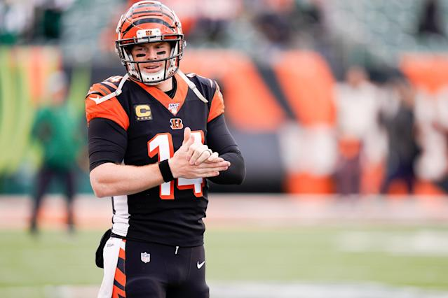 Andy Dalton helped the Cincinnati Bengals end their 0-11 start by beating the New York Jets. (Photo by Bryan Woolston/Getty Images)