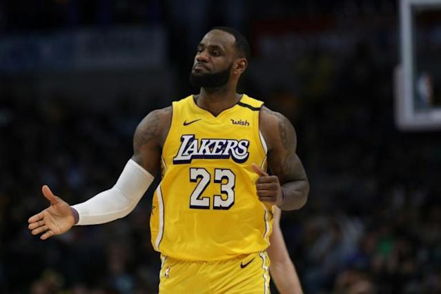 LeBron James missed the Los Angeles Lakers game against Oklahoma City Thunder on Saturday after being laid low by a cold (AFP Photo/RONALD MARTINEZ)