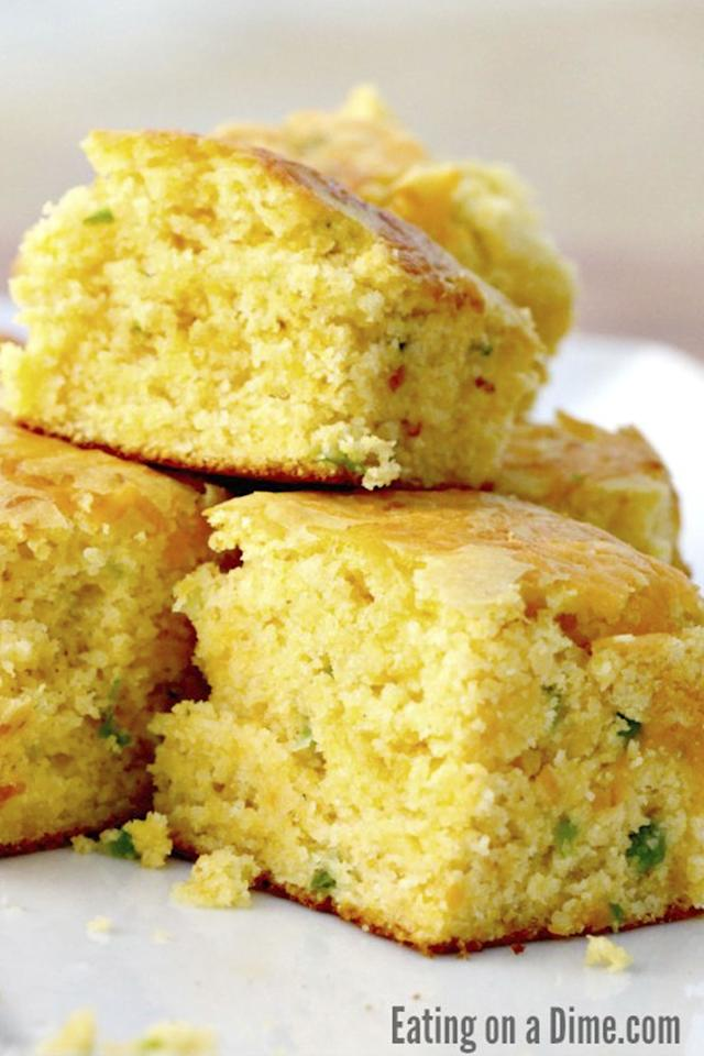 "<p>Give plain cornbread some kick with diced jalapeñ<span></span><span></span>os.</p><p><strong>Get the recipe at <a rel=""nofollow"" href=""http://www.eatingonadime.com/cheddar-jalapeno-cornbread-recipe/"">Eating on a Dime</a>. </strong></p><p><strong>Tools you'll need: </strong><em>$11, Pro Chef Kitchen Tools Stainless Steel Mixing Bowl, </em><a rel=""nofollow"" href=""https://www.amazon.com/Stainless-Steel-Mixing-Bowl-Whisk/dp/B01KJACLES?tag=syndication-20""><em>amazon.com</em></a><span></span><br></p>"
