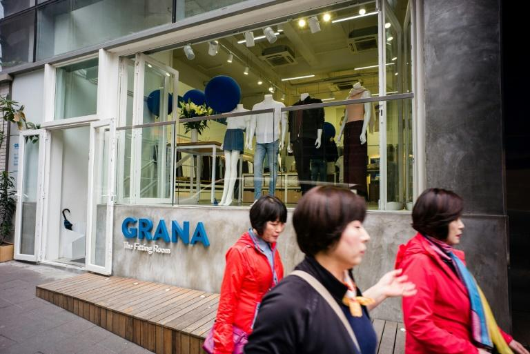The fitting room of start-up retailer Grana in Hong Kong