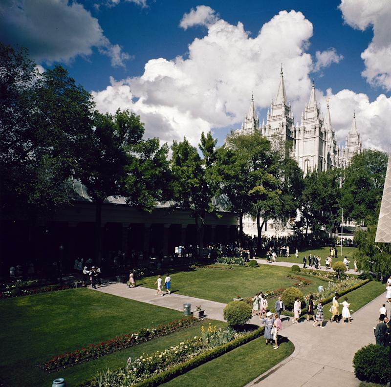 FILE - This undated file photo shows the Salt Lake Temple in Temple Square, Salt Lake City, Utah. Republican presidential candidate, former Massachusetts Gov. Mitt Romney is starting to open up a bit more about his lifelong commitment to Mormonism and lay leadership in the church, heeding pleas from backers who hope it could help him overcome his struggles to connect with voters. (AP Photo, File)