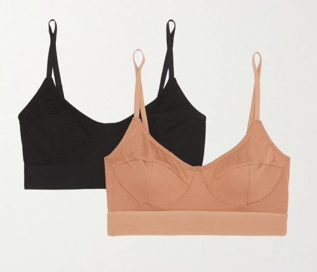 """<p>Baserange Set of Two Stretch-Bamboo Soft-Cup Bra (available in sizes XS-L), $124, <a href=""""https://rstyle.me/+t_mzvEI2hDRzGfqmFfkbGA"""" rel=""""nofollow noopener"""" target=""""_blank"""" data-ylk=""""slk:available here"""" class=""""link rapid-noclick-resp"""">available here</a>. </p>"""